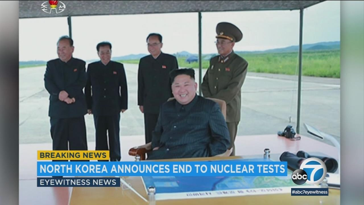 North Korea says it has suspended nuclear and long-range missile tests and plans to close its nuclear test site.