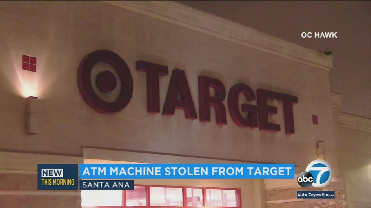 Burglars were at large after striking two Targets locations in Orange County early Tuesday morning, authorities said.