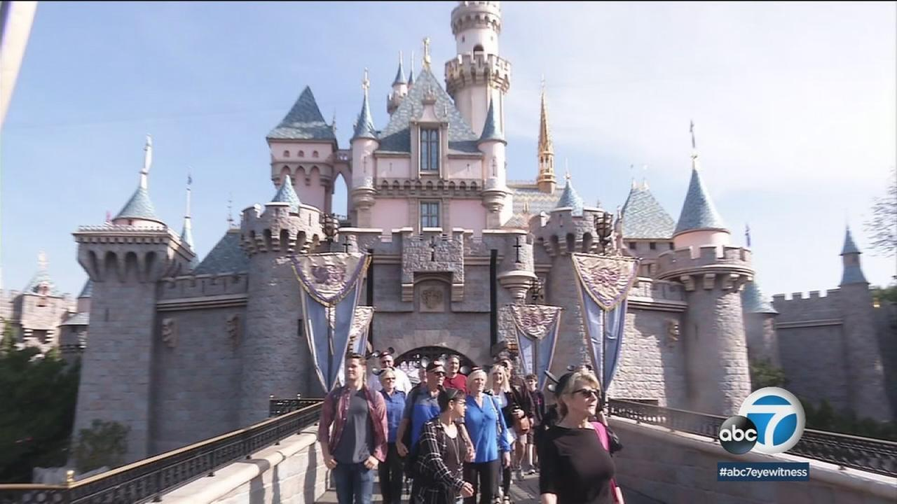 Members of the Gerlach family walked through Disneyland, which theyve all called home at some point in their lives since theyve all worked there.