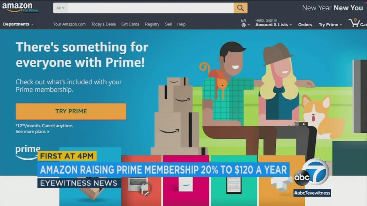 Amazon is raising the price of its annual Prime membership fee to $119 a year, up 20 percent from $99.