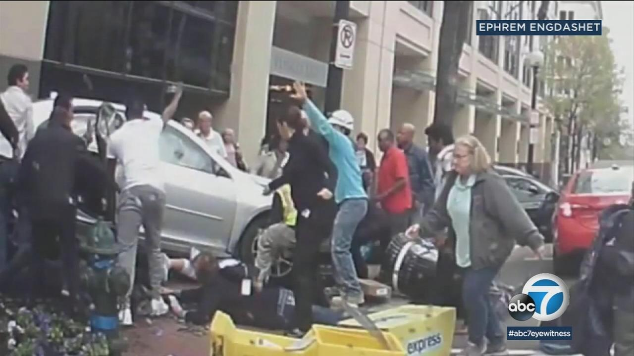 Good Samaritans spring into action after car pins two people in Washington, D.C.