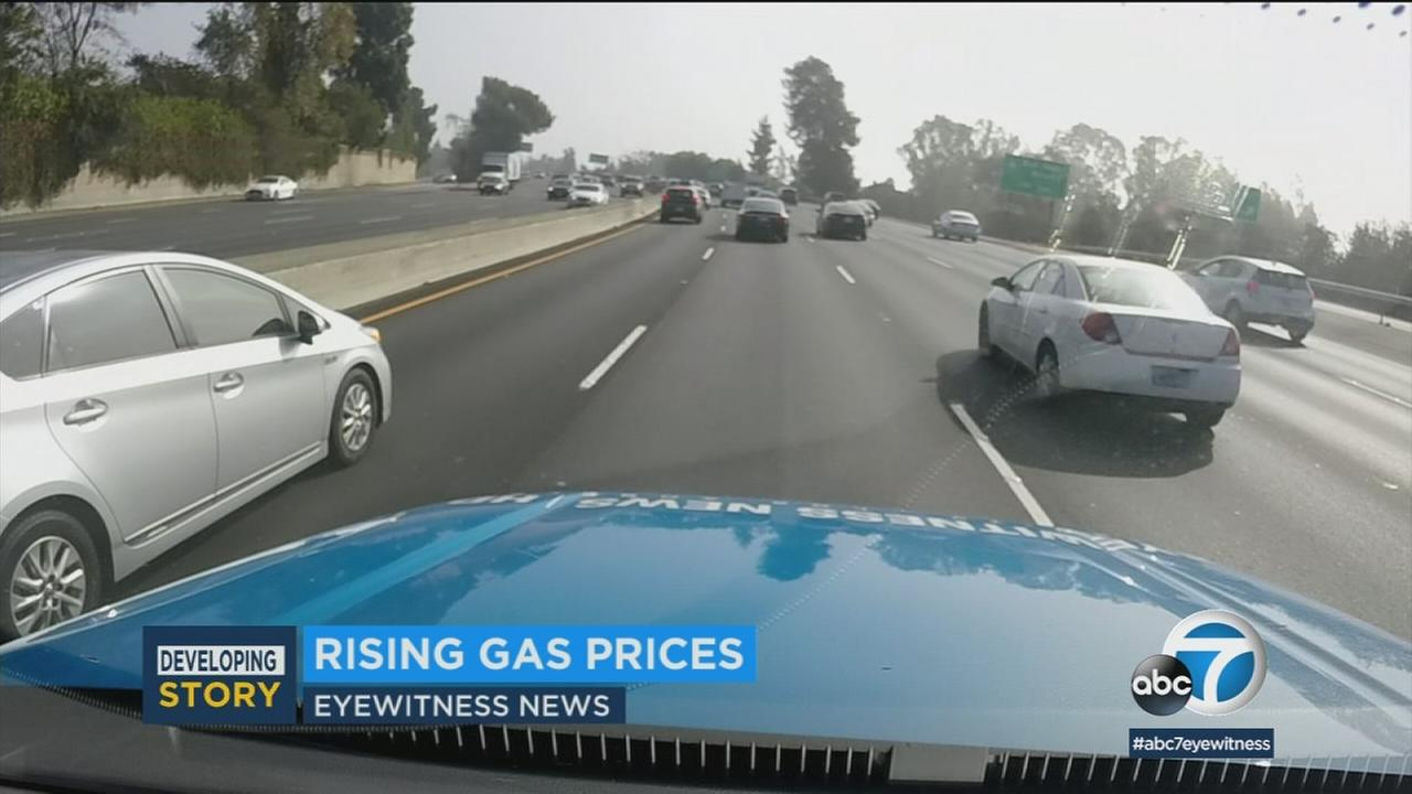 Across Southern California, drivers are dealing with rising gas prices with no relief in sight.