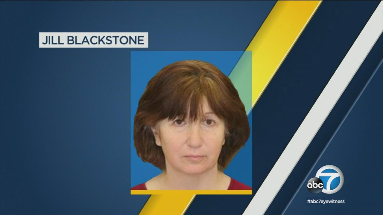 Jill Blackstone is accused of killing her sister in their Studio City home and making it look like suicide.