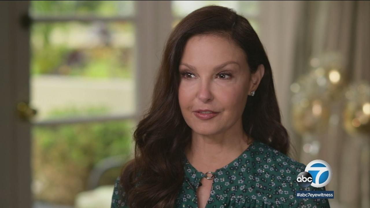 Actress Ashley Judd is shown in a photo during an ABC News interview.
