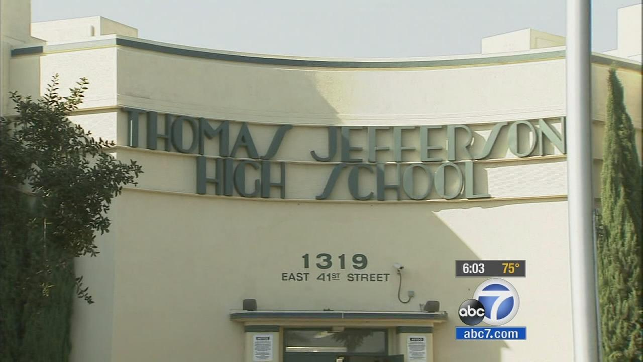 Jefferson High School in South L.A. is seen.
