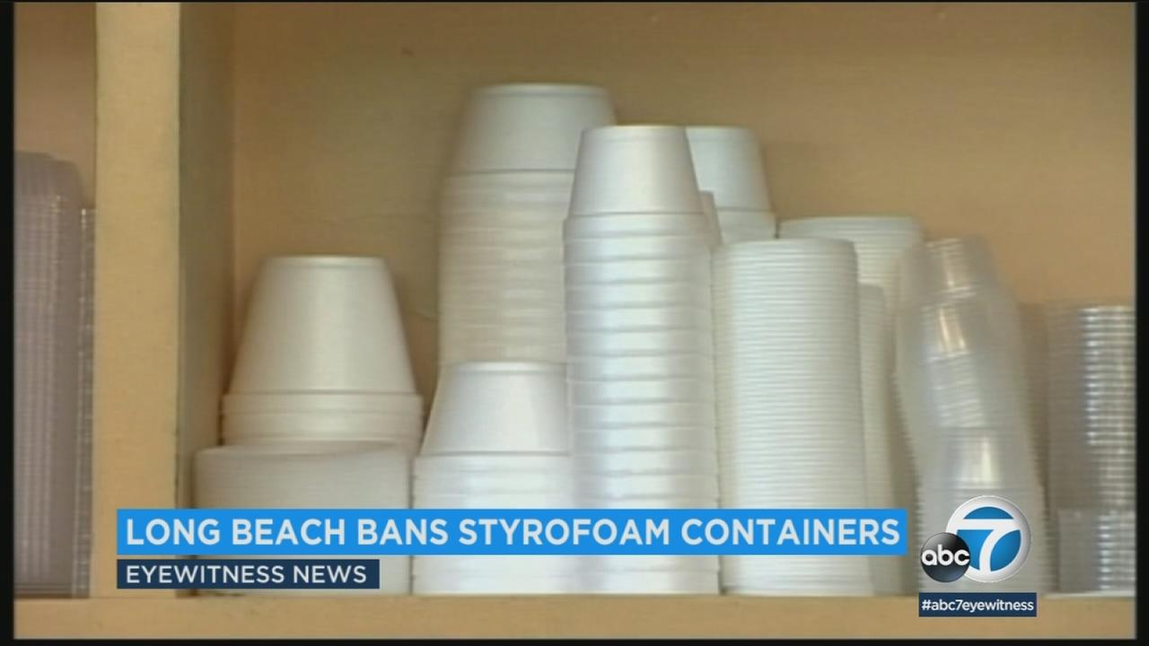 The city of Long Beach is taking a big step toward going green by banning plastic foam takeout containers.
