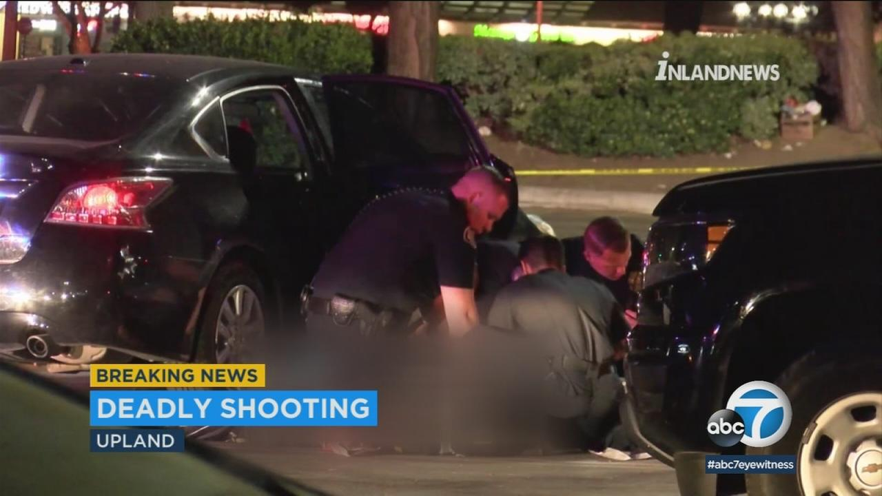 Police are investigating a shooting after a man died Tuesday morning at a Home Depot parking lot in Upland.
