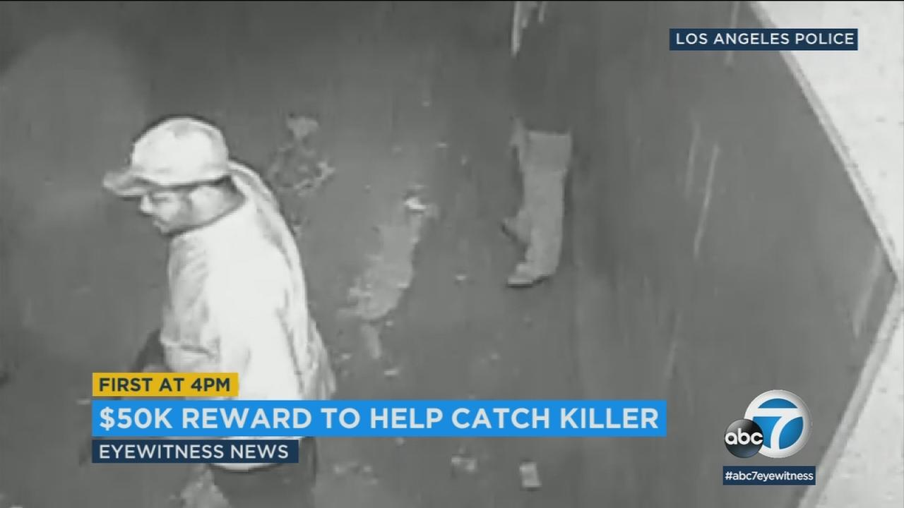 A suspect in the killing of a father in Leimert Park is shown in surveillance video.