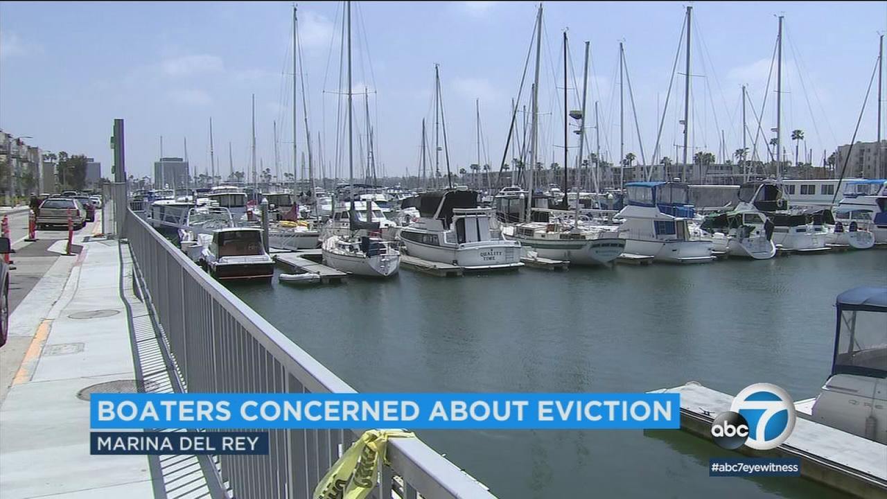 Marina del Rey boat owners are fighting efforts to evict them during construction projects to modernize the marinas.