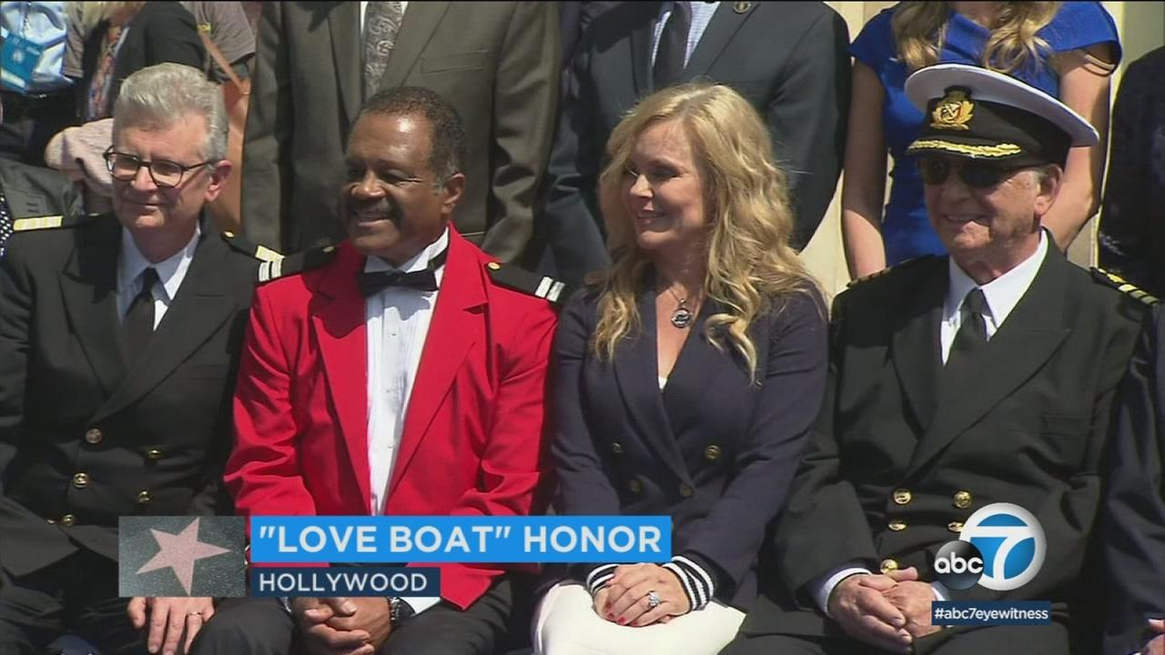 Members of the original cast of The Love Boat were on hand to receive a special plaque on the Hollywood Walk of Fame.