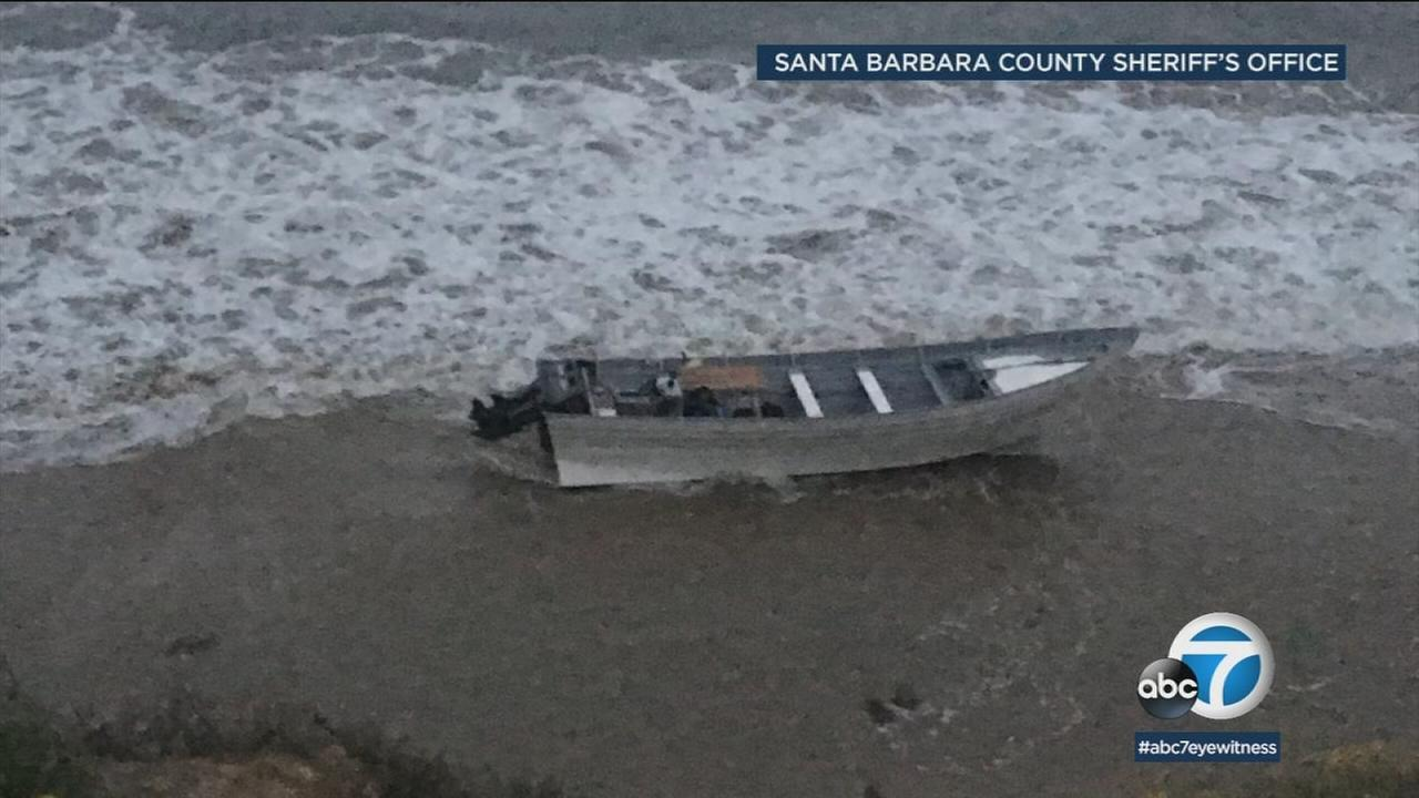 Authorities in Santa Barbara County seized 3,000 pounds of marijuana and arrested 18 men in a smuggling operation that used a panga-style boat.