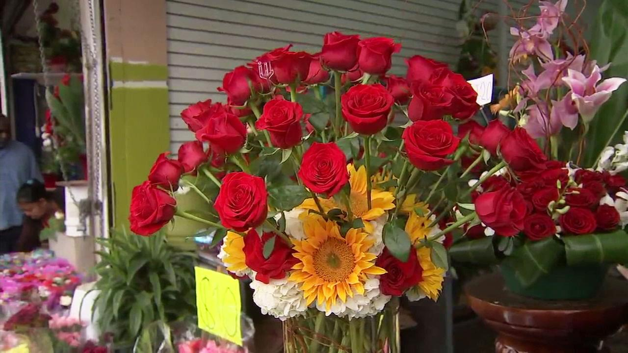 Mothers Day flowers at the California Flower Mall in downtown L.A. on Sunday, May 13, 2018.