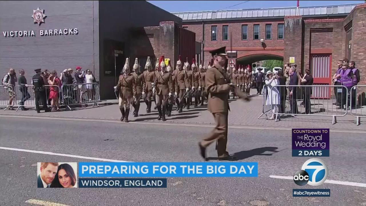British military rehearse on Windsor streets ahead of royal wedding