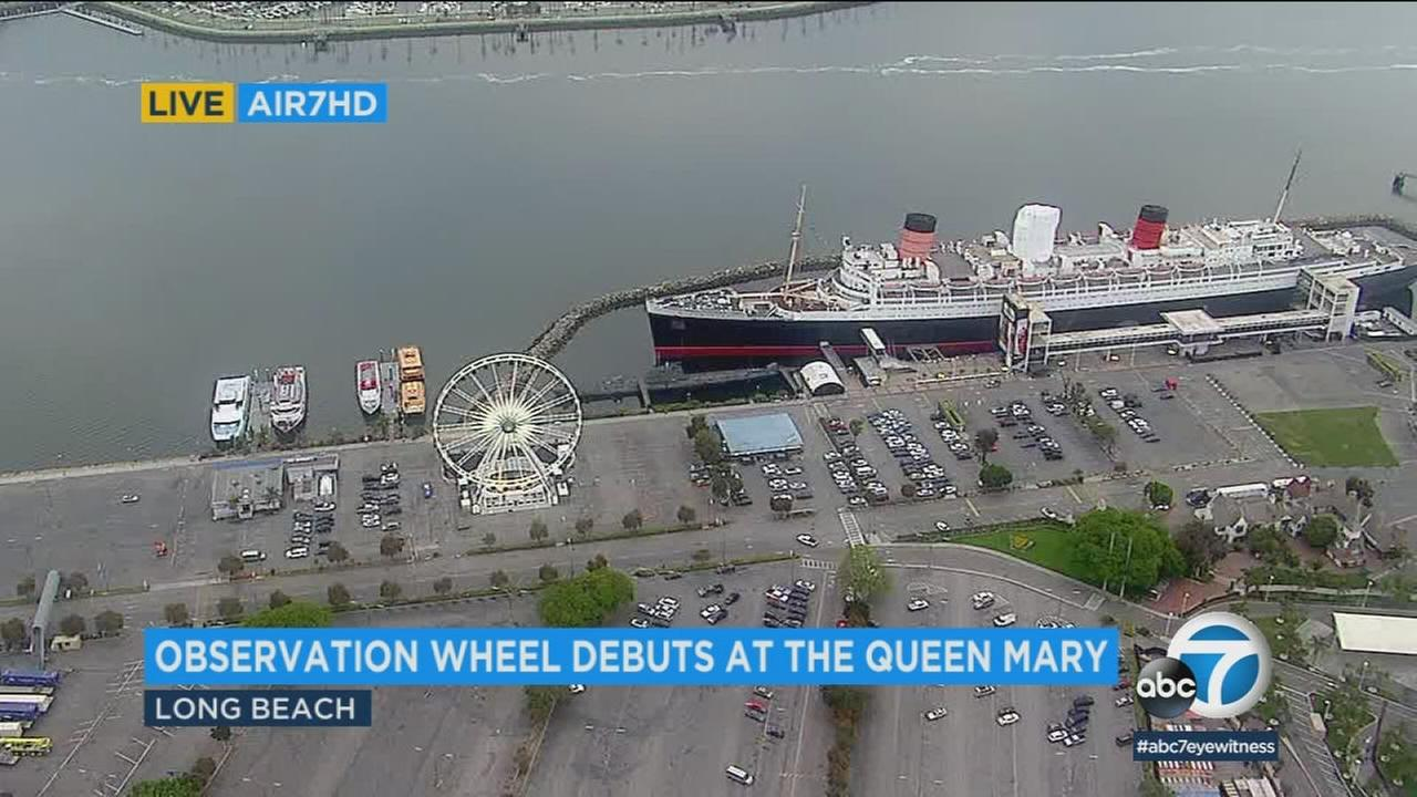 Preparations continued in Long Beach for the opening of the Western Hemispheres largest traveling observation wheel, which will begin a monthlong residency near the Queen Mary.