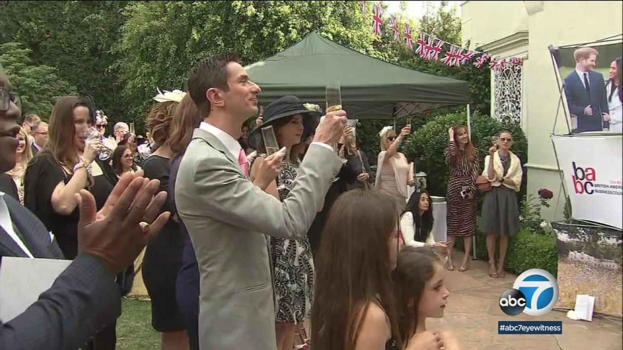 The British consulate general in Los Angeles held an afternoon tea at his residence in Mid-Wilshire to celebrate the royal wedding on Saturday.