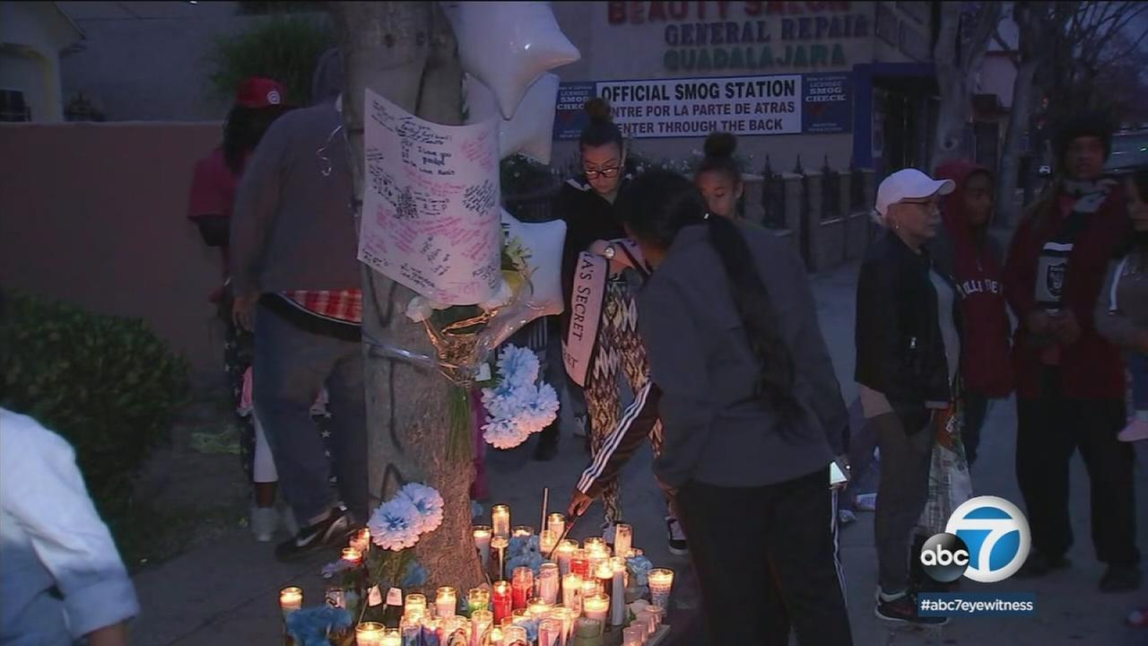 A community in Compton came together Sunday to remember a man killed by a hit-and-run driver, and called for changes to be made at the intersection where he died.