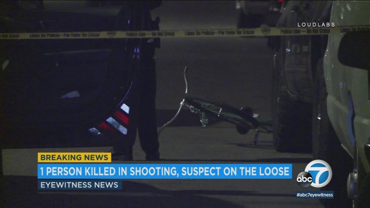 The scene of a deadly shooting in South Los Angeles on Monday, May 21, 2018.