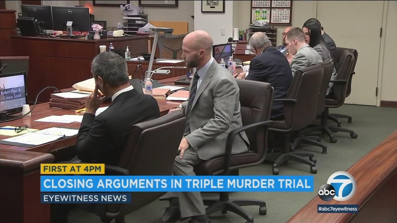 The two suspects accused of killing three people in Pinyon Pines 12 years ago are shown in court on Tuesday, May 22, 2018.