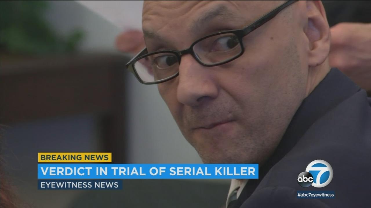 A man was found guilty of the first-degree murders of five women in Southern California that occurred between 1986 and 1995.