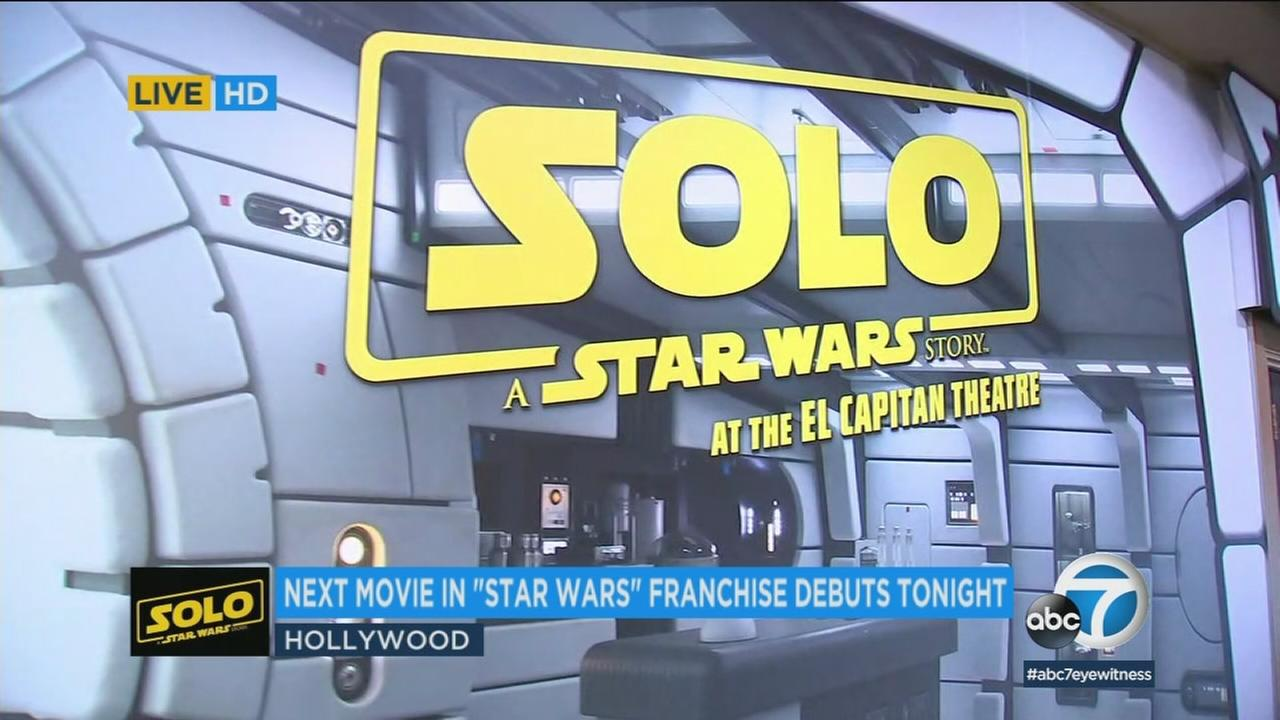 Hollywoods El Capitan Theatre is hosting a special fan event with raffle prizes and a costume exhibit for this evenings screening of Solo: A Star Wars Story.