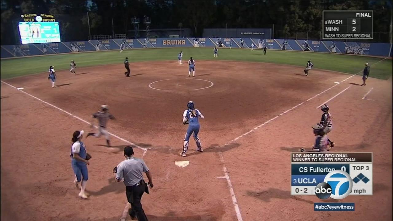 The UCLA womens softball team is just two wins from advancing to the College World Series.