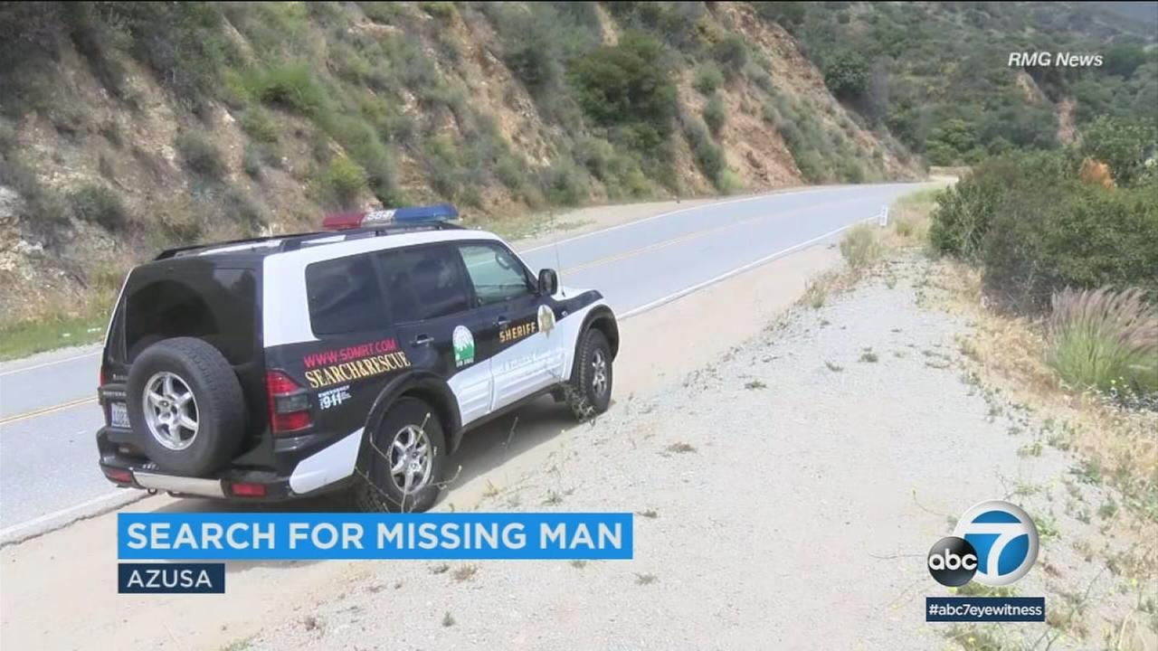 Police are searching for a missing man after finding a large amount of blood inside an Azusa home that he had been renting.