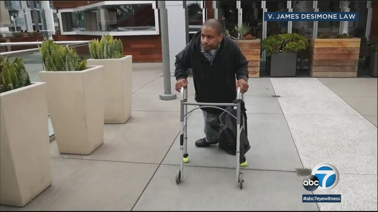 A disabled employee of an AMC theater at the Villa Marina Marketplace says a broken elevator prevents him from easily getting to work and has sued the mall.