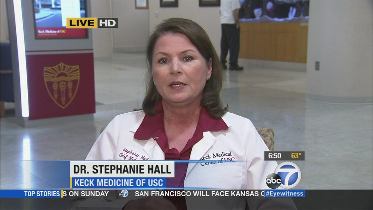 Dr. Stephanie Hall, with Keck Medical Center of USC, appears on Eyewitness News Friday, Oct. 17, 2014.