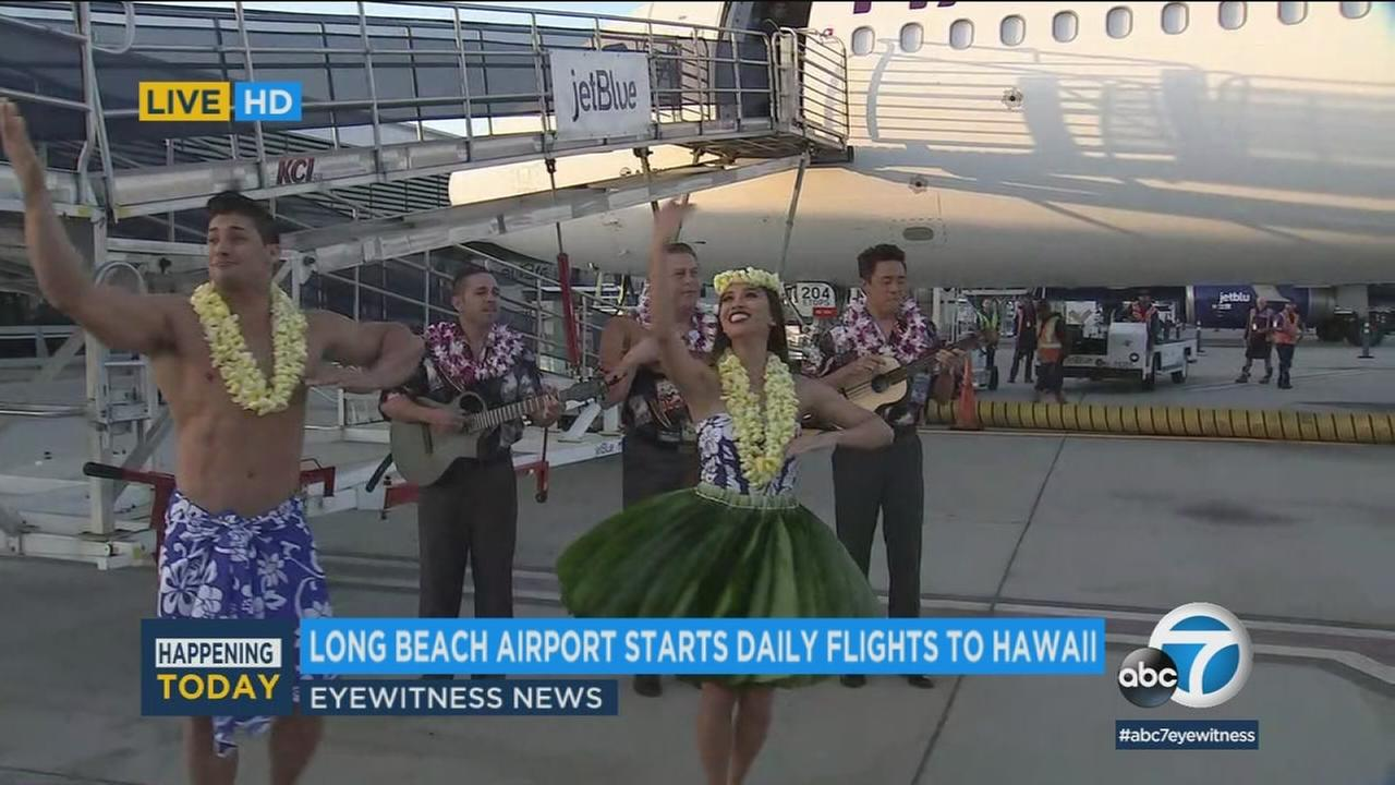 The Long Beach Airport has gone all out to celebrate new daily nonstop flights to Hawaii.