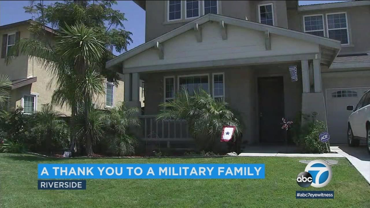 An anonymous veteran delivered a hand-written note to a Riverside woman whose husband is currently deployed in the Middle East.