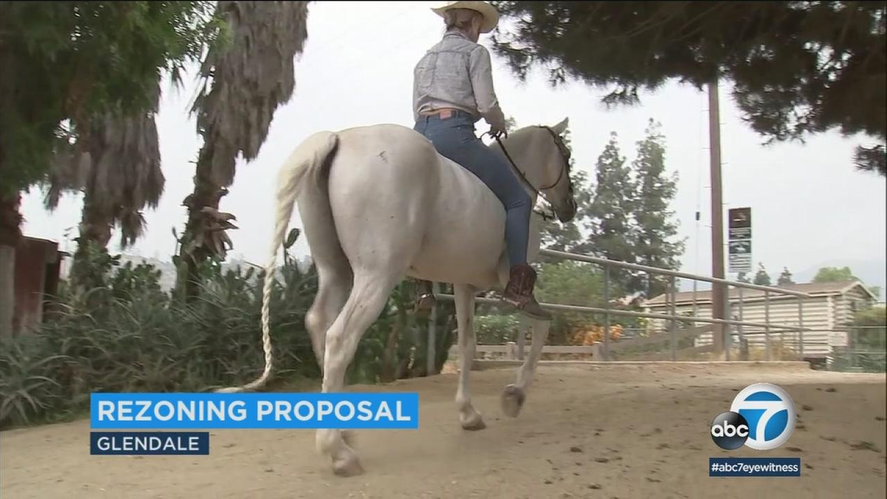A horseback rider is shown at the Silver Spur Stables in Griffith Park at Silver Spur Stables.