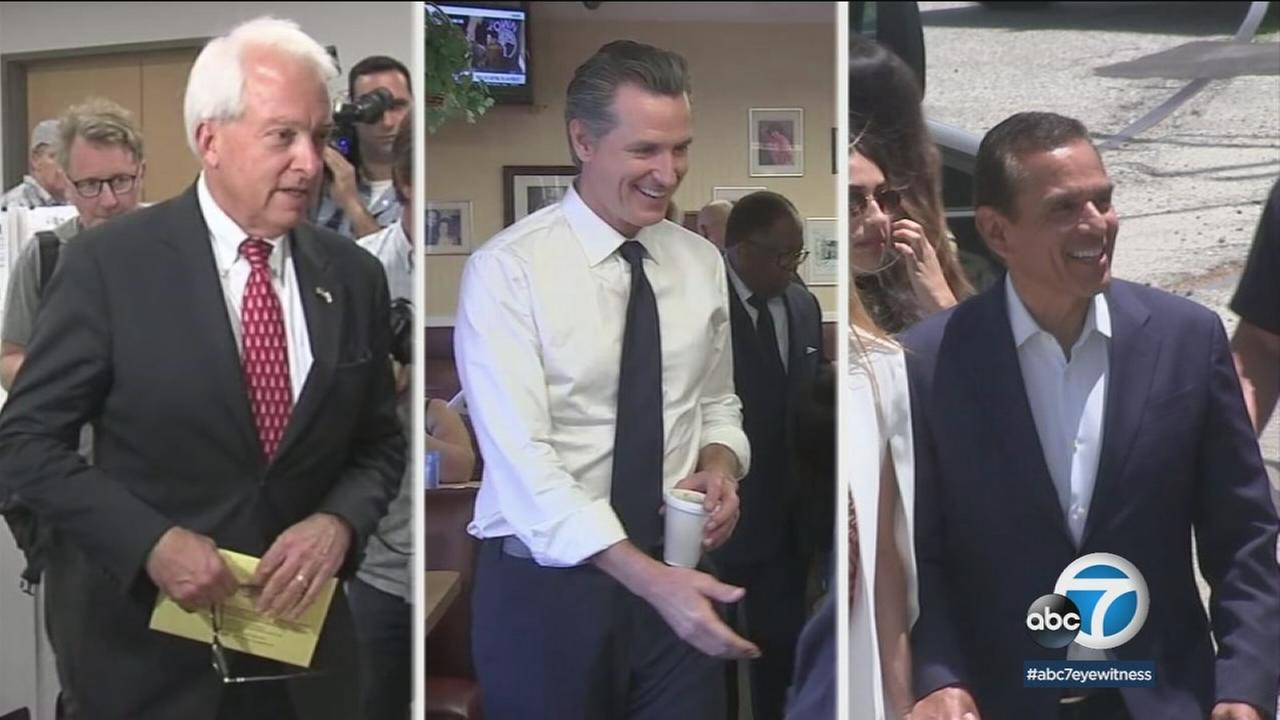 John Cox, Gavin Newsom and Antonio Villaraigosa are the leading candidates for governor in the California primary.