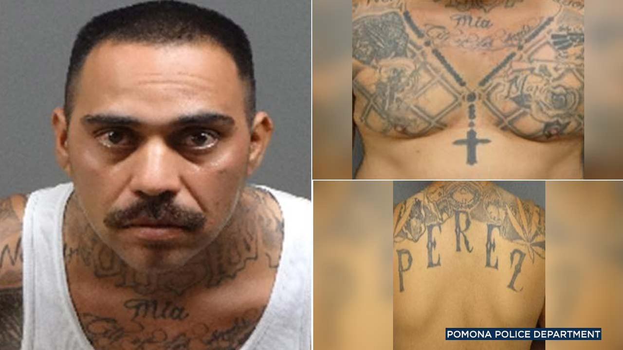 Rigoberto Perez, 34, is see in images released by Pomona police.