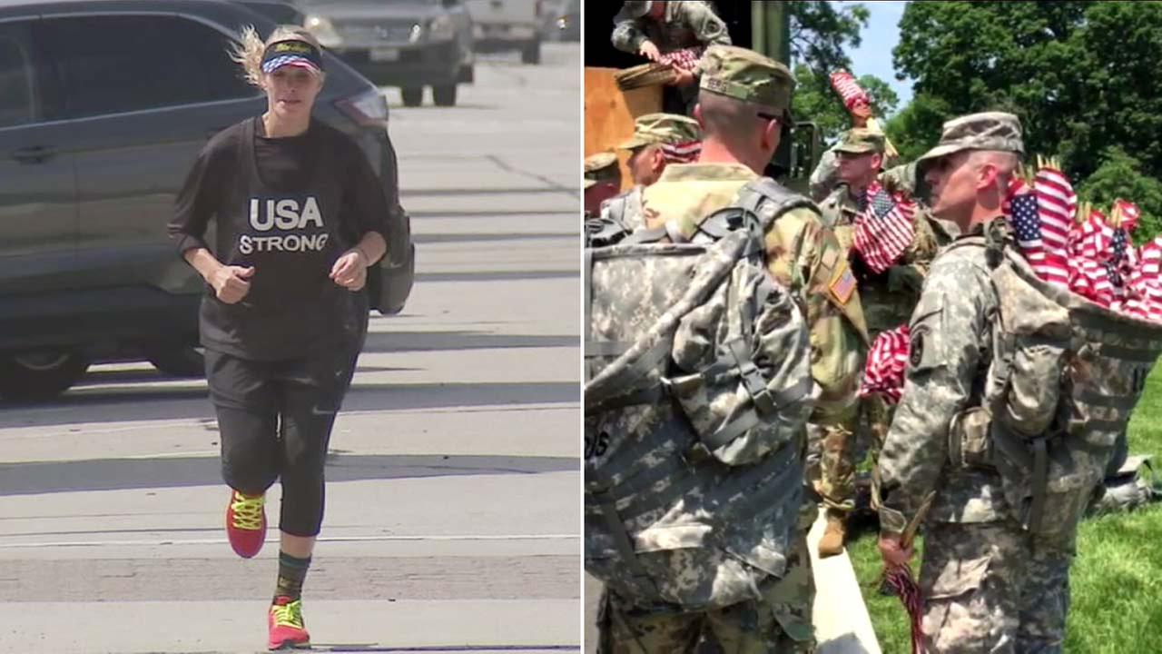 Katie Strong of Glendora is running across the country to raise awareness and money for veterans.