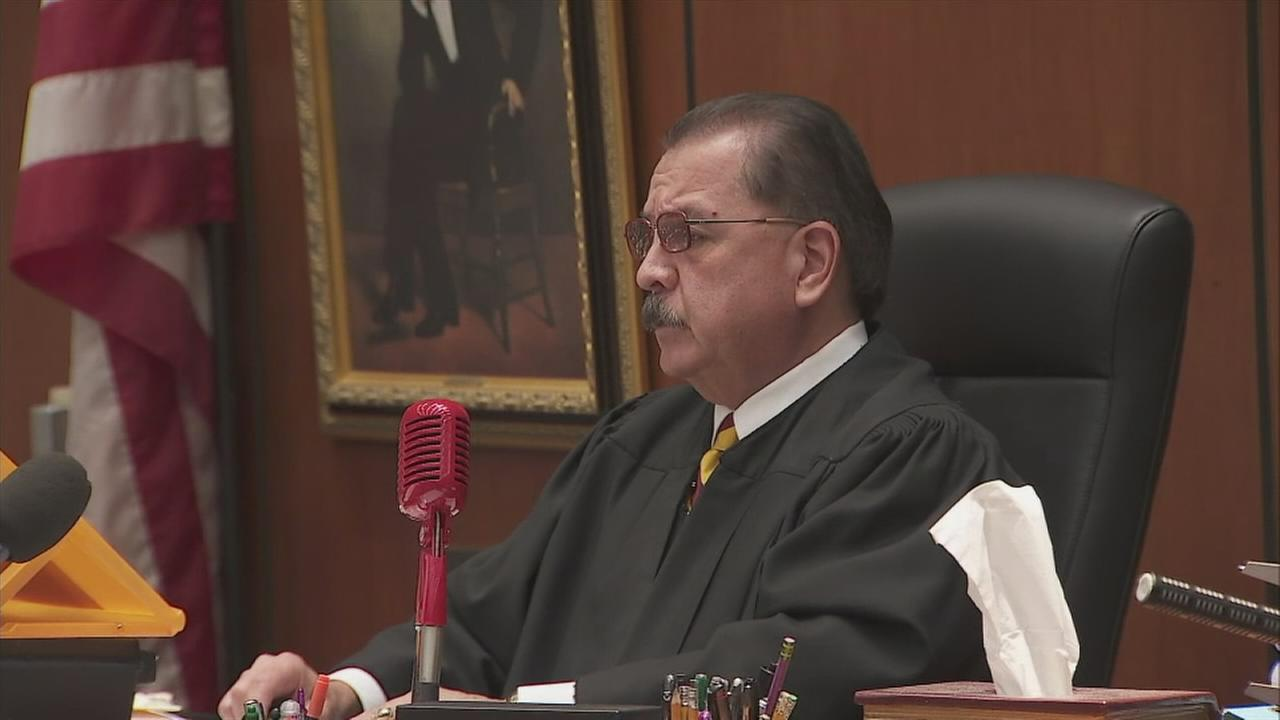 Judge George G. Lomeli reads the sentences for a Palmdale mother and her boyfriend in the torture killing of her 8-year-old son.