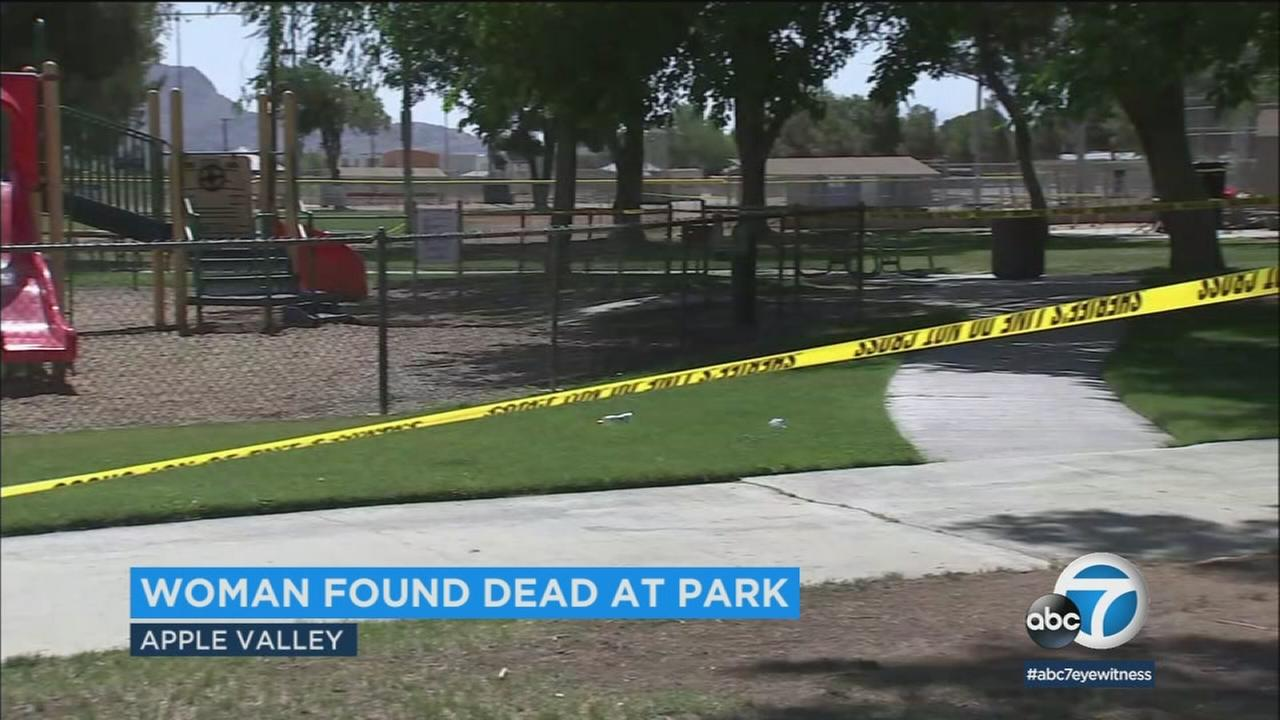 A park in Apple Valley where a woman was found killed on Friday, June 8, 2018.