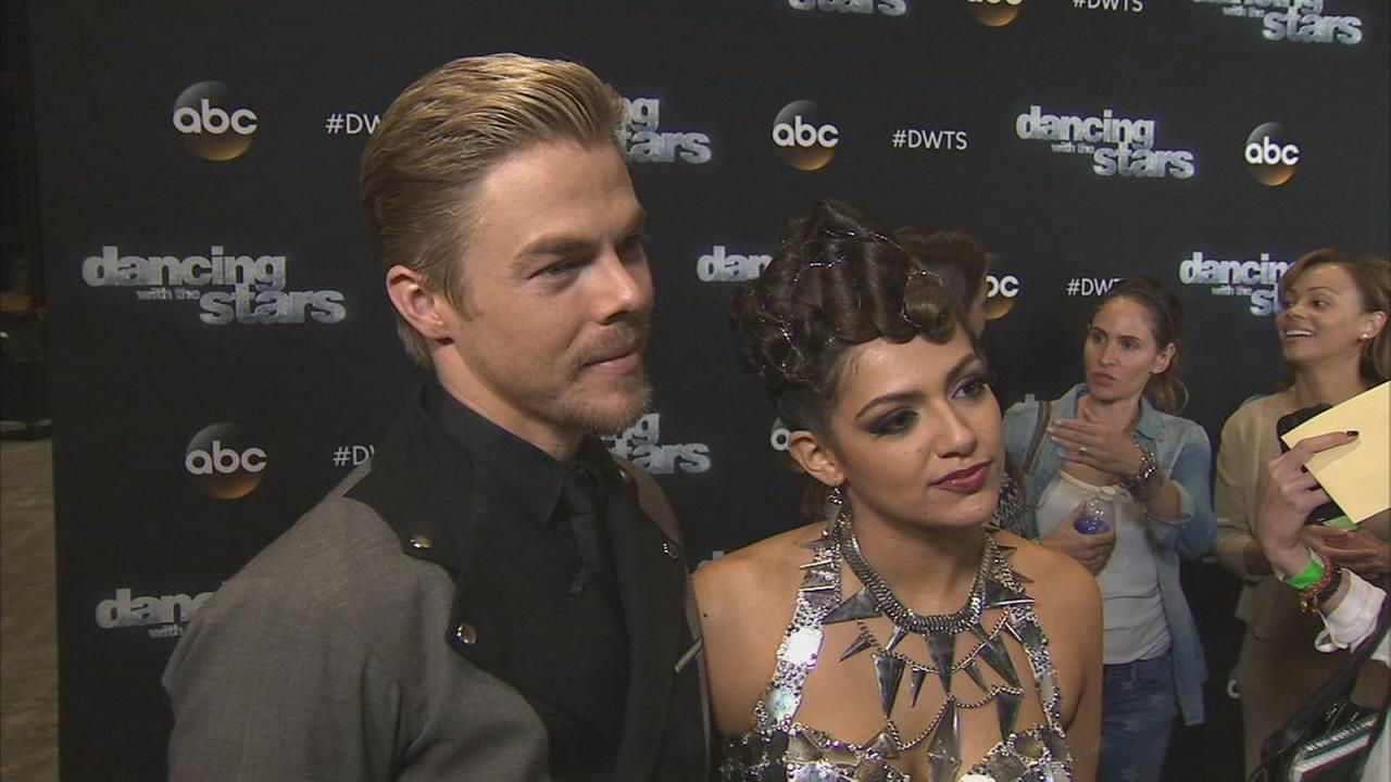 Bethany Mota and Derek Hough on Dancing With The Stars week 6 on Monday, Oct. 20, 2014.