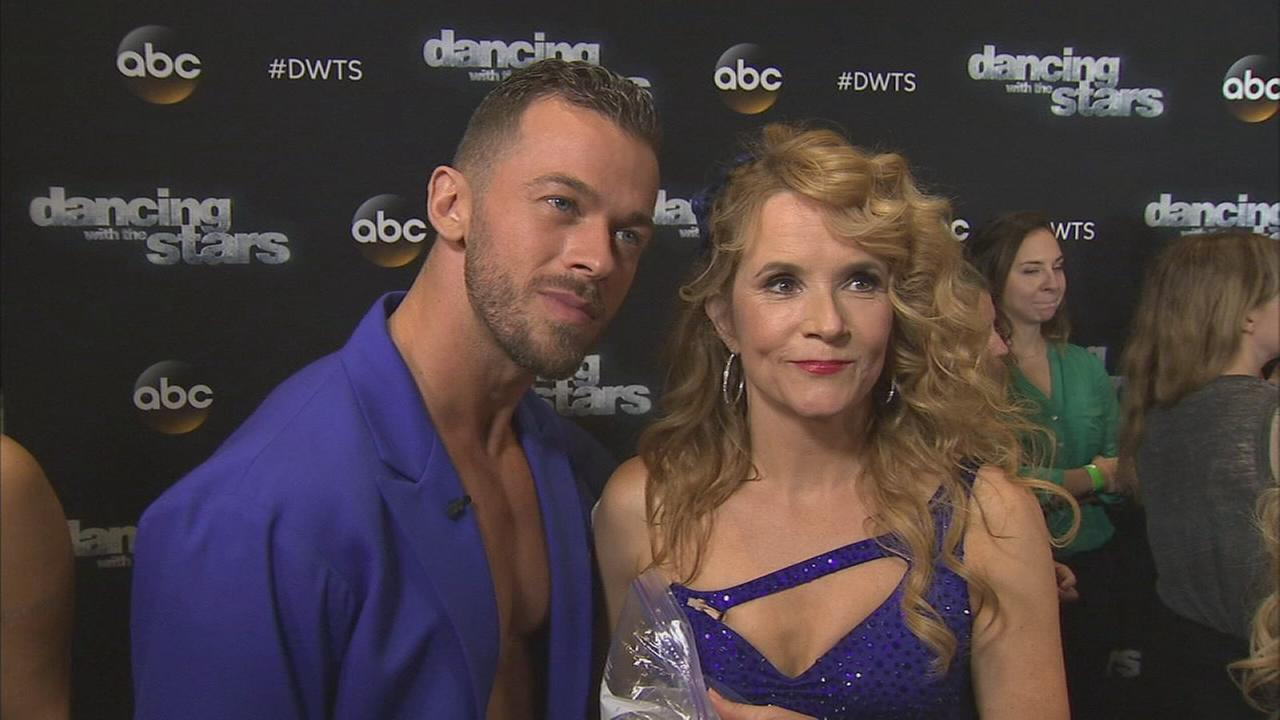 Lea Thompson and Artem Chigvintsev on Dancing With The Stars week 6 on Monday, Oct. 20, 2014.