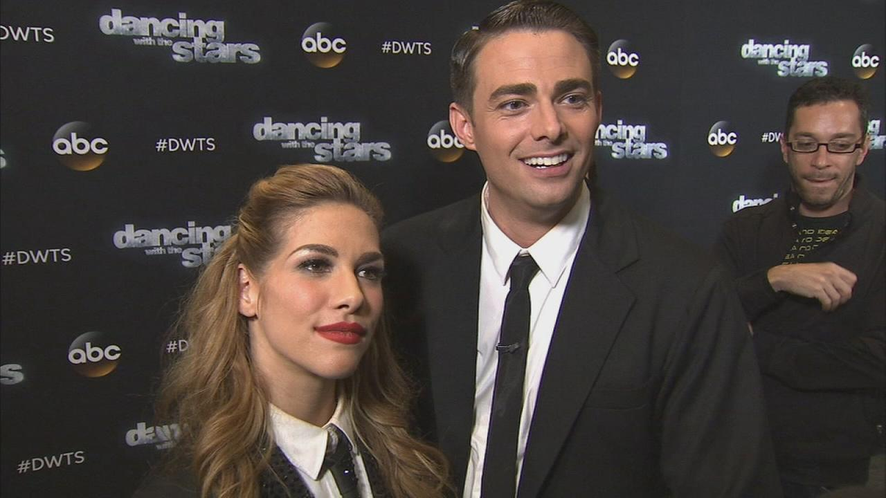 Jonathan Bennett and Allison Holker on Dancing With The Stars week 6 on Monday, Oct. 20, 2014.