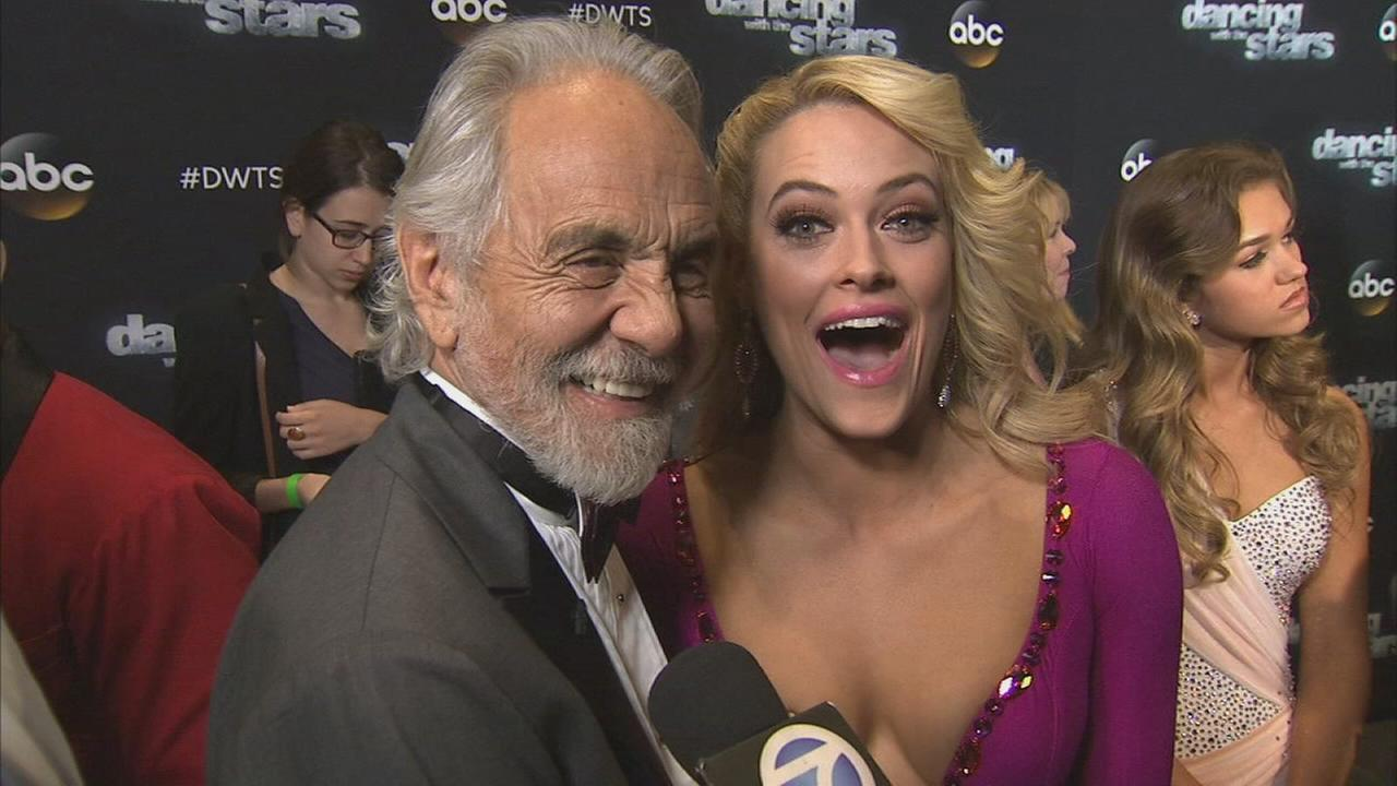 Tommy Chong and Peta Murgatroyd on Dancing With The Stars week 6 on Monday, Oct. 20, 2014.