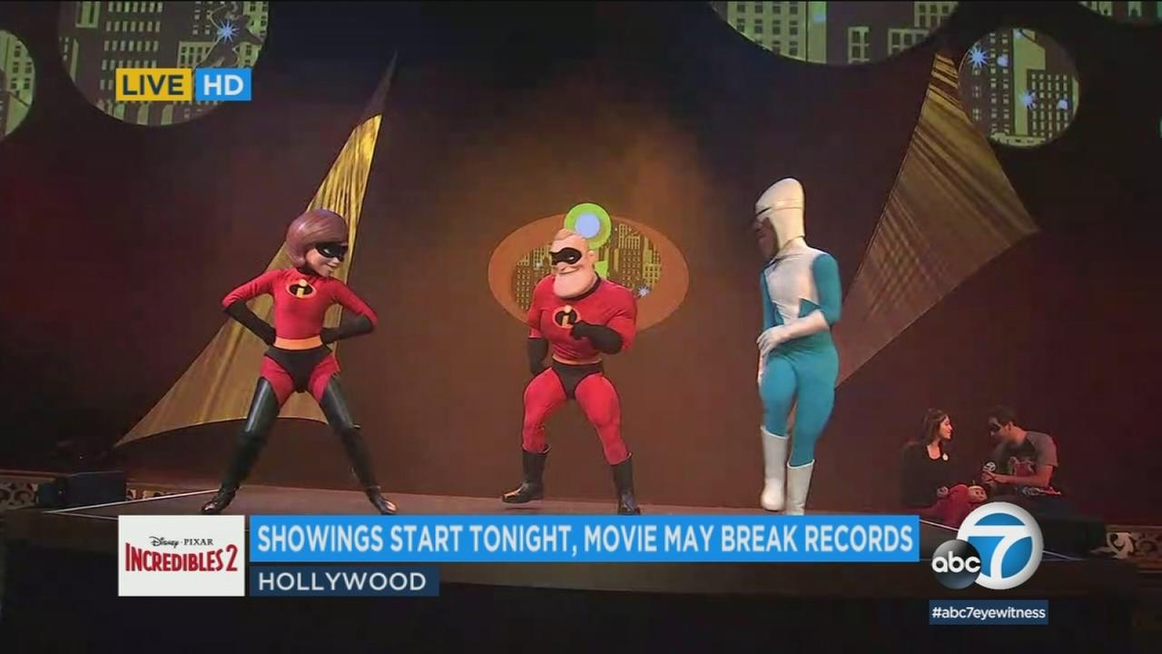 Moviegoers who see The Incredibles 2 at El Capitan will be entertained to an onstage performance featuring Elastigirl, Mr. Incredible and Frozone before each showing.