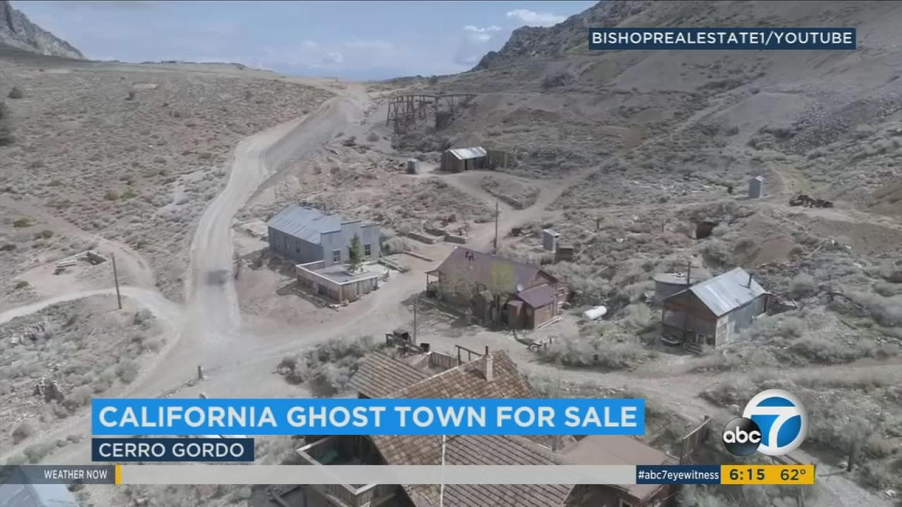 The 19th-Century mining town of Cerro Gordo, tucked in the Inyo Mountains outside Lone Pine, is up for sale, listed for the bargain price of $925,000.