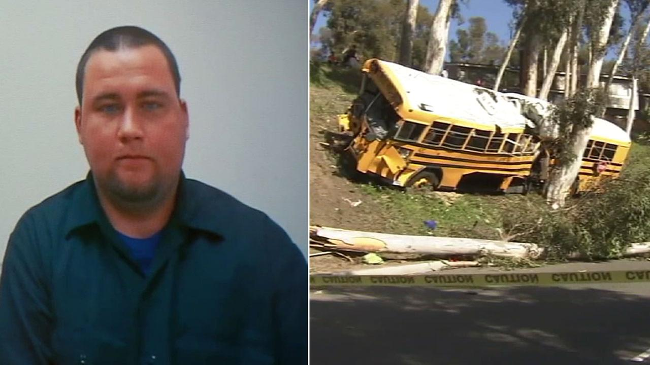 Gerald Rupple used a webcam to plead guilty to 11 charges over an Orange County school bus crash.