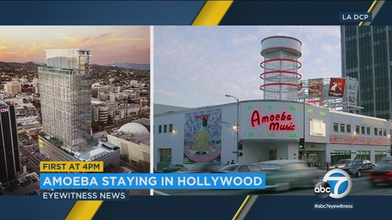 Amoeba Music is moving to a new location within blocks of its current home on Sunset and looks to add a pot dispensary when it makes the move.