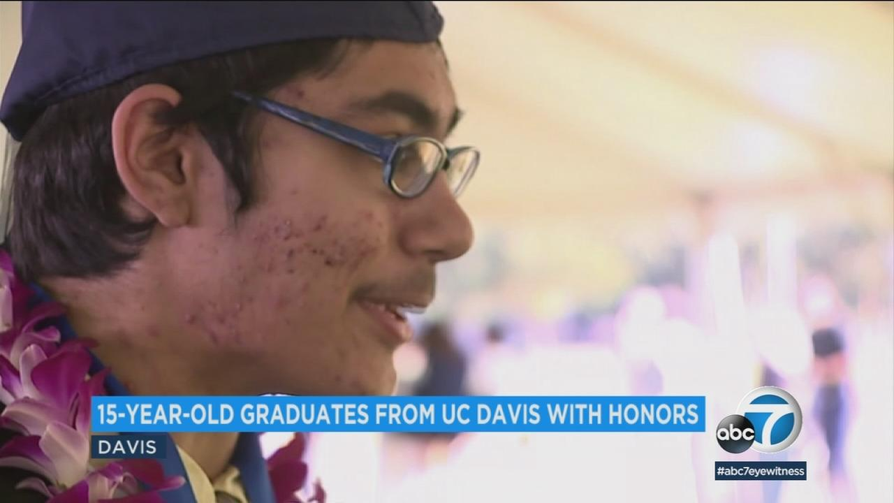 Tanishq Abraham just graduated with honors from UC Davis with a degree in biomedical engineering, and hes only 15 years old.
