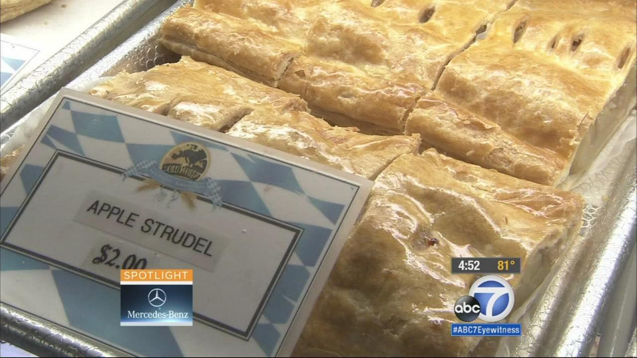 Apple strudel from Old World Village in Huntington Beach is shown in this undated file photo.