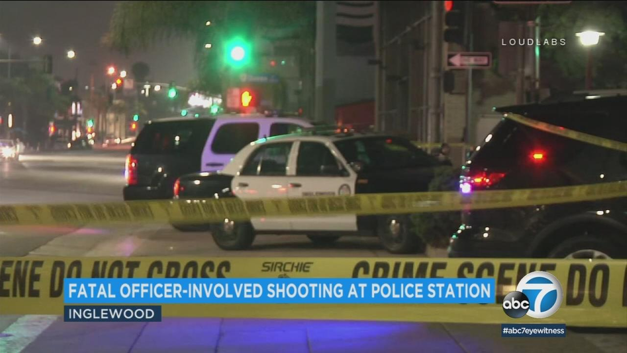 Officers shot and killed a man in Inglewood after authorities say he pointed a fake gun at them.