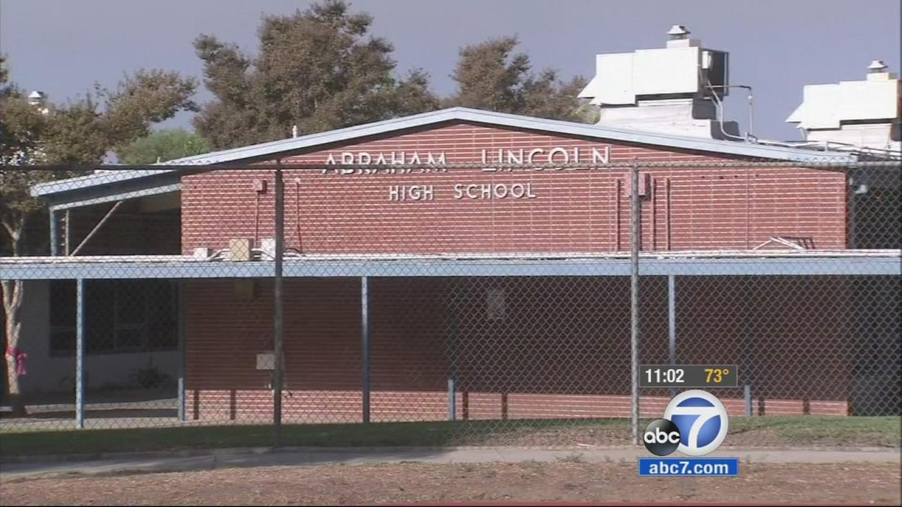 Abraham Lincoln High School in Riverside was closed on Monday, Oct. 27, 2014, due to a leak of an unknown substance.