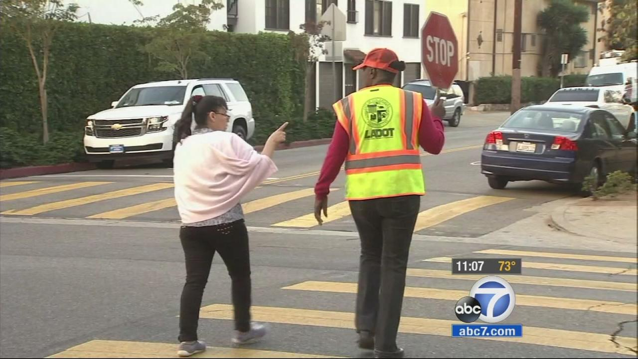 Los Angeles officials are unveiling new initiatives Monday to make it safer for children walking to school.