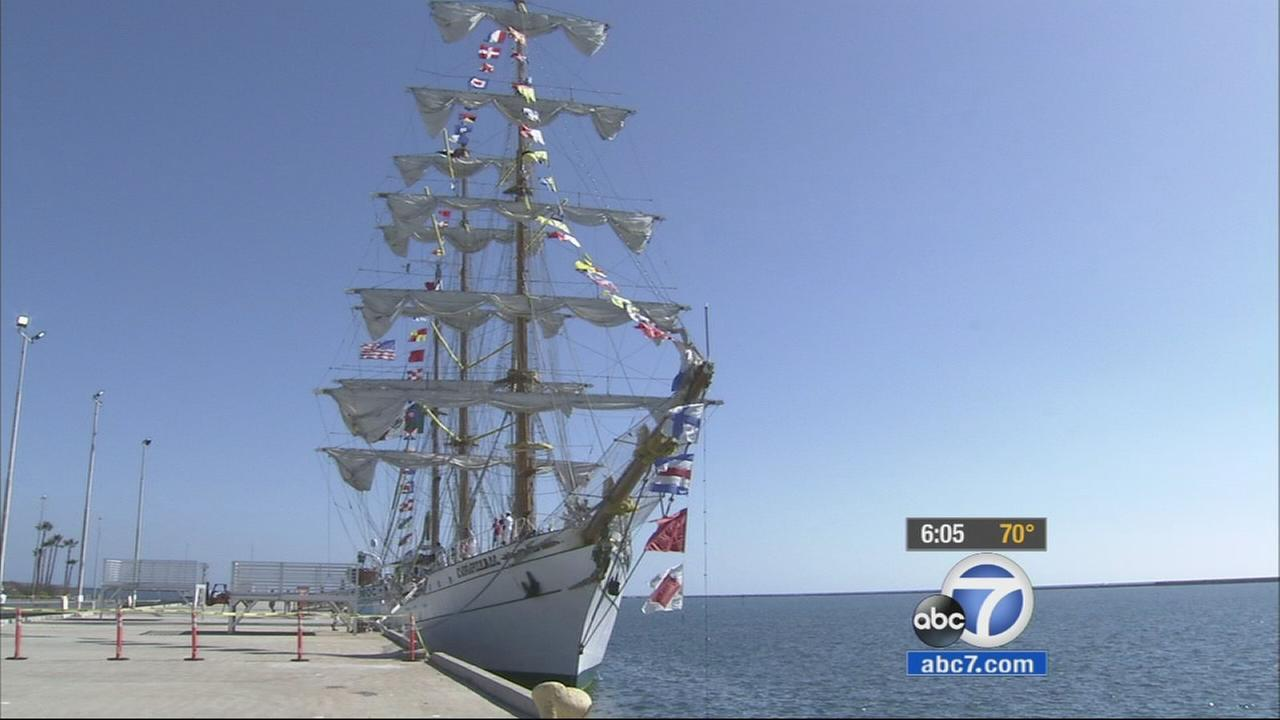 A Mexican naval ship is offering free tours to the public at the Port of L.A. until Thursday, October 30, 2014.